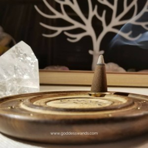 incense cone holder, incense holder, incense burner, incense cones, lotus flower, sacred space, cleansing, set the mood